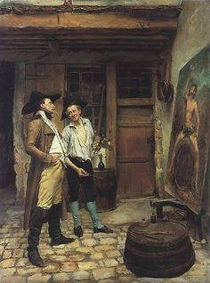 The Sign Painter by Jean-Louis Meissonier (1815-1891)
