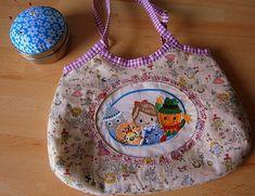Handtasche für Mädchen, Zauberer von Oz, Stickbild, handgearbeitet von UlrikesSmaating auf Etsy