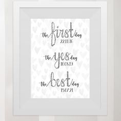 Beautiful print available to buy from etsy shop, custom with the dates, perfect wedding gift. Relationship Timeline, Handmade Items, Handmade Gifts, Marketing And Advertising, Perfect Wedding, Dates, Wedding Gifts, Etsy Seller, Stationery