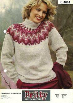 Álbum - Google+ Fair Isle Knitting Patterns, Sweater Knitting Patterns, Knitting Designs, Knitting Stitches, Knit Patterns, Hand Knitting, Harry Potter Knit, Norwegian Knitting, Icelandic Sweaters