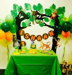 Beautiful Jungle theme Birthday Decorations