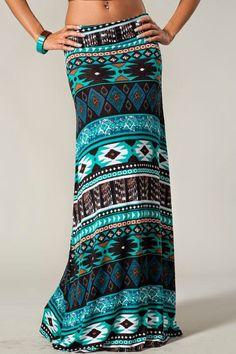 nice The Vogue Fashion: Paint The Sky Bohemian Maxi Skirt Aztec Maxi Skirts, Bohemian Maxi Skirt, Printed Maxi Skirts, Long Maxi Skirts, Aztec Skirt, Tribal Maxi, Maxi Dresses, Short Dresses, Vogue Fashion