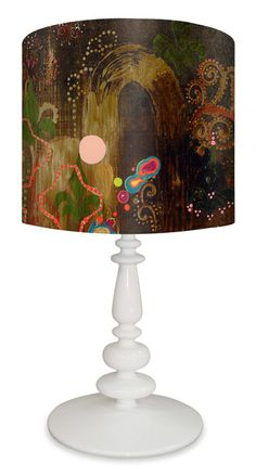 """Cascades of Simple 26"""" H Table Lamp with Drum Shade"""