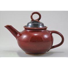 Copper Red Ceramic Tea Pot by AspenPottery on Etsy