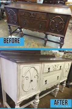 refurbished furniture Rethunk Junk furniture paint in Linen and the RTJ Stain Top was used to finish the top. No stripping with our products including the stain! Decor, Painting Cabinets, Chic Furniture, Redo Furniture, Refurbished Furniture, Painted Furniture, Rustic Furniture, Paint Furniture, Vintage Furniture