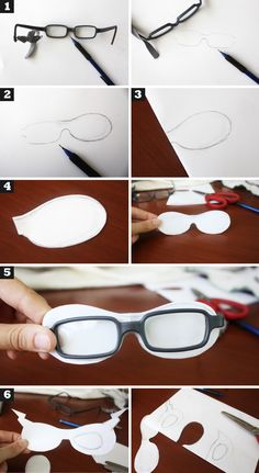 Superhero mask for kids with glasses.