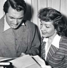 Cary Grant and Claudette Colbert