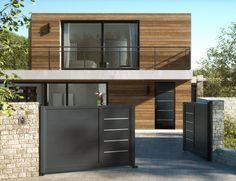 Déclinaison du design Zilten sur la porte d'entrée et les portails de cloture