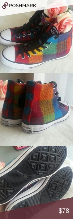 50c9be5aaf72 Converse Woolrich Rainbox Brand new without box Size women   38 EU   cm Converse  Shoes Sneakers
