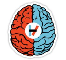Twenty One Pilots Split Brain And Logo Sticker