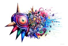 Majora's Mask by SandraInk on DeviantArt