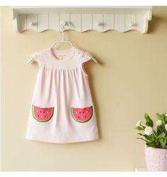 Mom and Bab Cotton Dress - Watermelon - sadinashop.com  Gaun cantik untuk bayi dan anak.