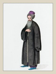 Jewish citizen of Constantinople. Ottoman Empire 1800.   Costumes and fashions of the centuries.