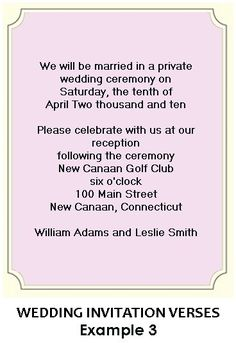 Reception Only Invitation Wording Wedding Help Tips