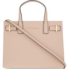 KURT GEIGER LONDON London saffiano leather tote ($325) ❤ liked on Polyvore featuring bags, handbags, tote bags, tote bag purse, pink purse, tote hand bags, handbags tote bags and tote purse