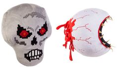 Feature Plush Assortment - Features two bosses in the Terraria Game, Skeletron and Eye of Cthulhu