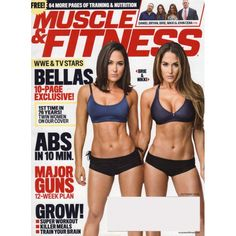 Muscle and Fitness - Brie & Nikki Bella