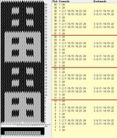 24 tarjetas, 2 colores, repite cada 10 movimientos // sed_666 diseñado en GTT༺❁