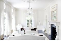 VINTAGE & CHIC: decoración vintage para tu casa [] vintage home decor: Salones blancos [] White livingrooms