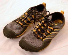 Merrell Barefoot Men's Size 11 Trail Glove Smoke Adventure Yellow Running Shoes #Merrell #RunningCrossTraining