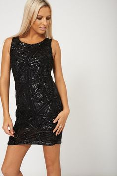 Little Black Number With Beads And Sequins