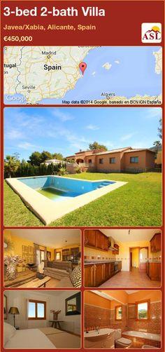 3-bed 2-bath Villa in Javea/Xabia, Alicante, Spain ►€450,000 #PropertyForSaleInSpain