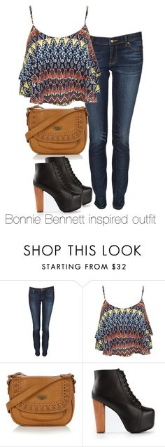 """Bonnie Bennett inspired outfit/The Vampire Diaries"" by tvdsarahmichele ❤ liked on Polyvore featuring Juicy Couture, Miss Selfridge, Mantaray, Jeffrey Campbell, katgraham, thevampirediaries and BonnieBennett"