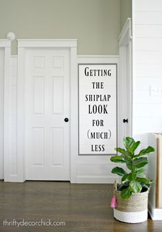 how to add shiplap walls