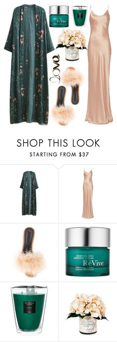 """Gorgeous night"" by yutsu ❤ liked on Polyvore featuring WithChic, ThePerfext, Alexander Wang, RéVive, Baobab Collection, Creative Displays and PBteen"