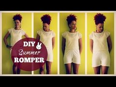 ☮ DIY Summer Romper + Cropped Top | DIY Summer Clothes ☮ - YouTube
