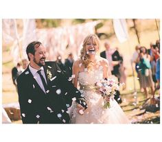 Bride and Groom Leaving the Ceremony | 27 Must-Take Wedding Photo Ideas - Real Simple