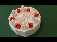 """「ホールケーキ」折り紙""""Whole cake"""" origami"""