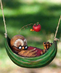 Evergreen Enterprises, Inc Day Dreamers Owl Statue Sleeping Animals, Owl Always Love You, Beautiful Owl, Beautiful Things, Friends Day, Owl Art, Cute Owl, Garden Statues, Daydream