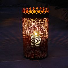 cylinder lantern by london garden trading | notonthehighstreet.com