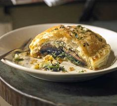 Mushroom and spinach Wellington.