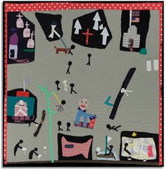 Nora Ezell's story quilt about the Alabama Civil Rights movement. #quilt #alabama