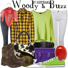 Cute Woody and Buzz outfits from Disney Bound. I particularly like the Buzz outfit. :)