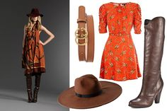 An oversized fedora spices up an equestrian autumn look