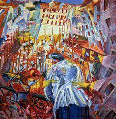 Gino severini La rue rentre dans la maison  Histoire de l'art - Les mouvements dans la peinture - Le futurisme