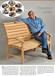 Garden Seat Plans - Outdoor Furniture Plans