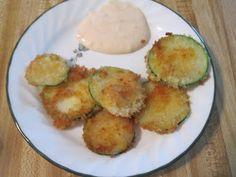 Vegetarian and Cooking!: Fried Zucchini with Hibachi Yum Yum Sauce