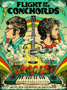 Zeb Love Flight of the Conchords Los Angeles Poster Release... #Arsetculture #Inside_the_Rock_Poster_Frame #Gig_Posters