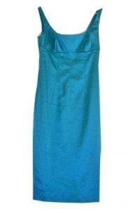 Vestido de raso Turquesa D&G