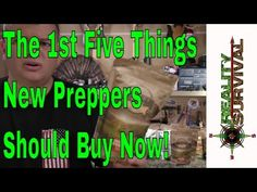 The First Things New Preppers Should Buy