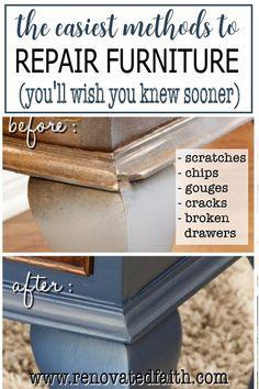 Repair Wood Furniture, Glazing Furniture, Diy Furniture Projects, Paint Furniture, Repurposed Furniture, Furniture Refinishing, Furniture Makeover, Diy Projects, Flip Furniture