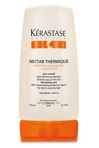 Nectar Thermique by Kerastase (the high end line of LOREAL) Is an amazing heat protectant that makes your hair incredibly soft. I highly reccomend!