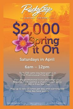 Saturdays in April! #springiton