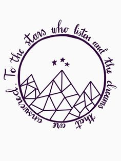 T-shirt 'ACOTAR - aux stars qui écoutent' par Up Book, Book Nerd, Bookish Tattoos, Feyre And Rhysand, Sarah J Maas Books, A Court Of Mist And Fury, Book Tattoo, Tattoo Inspiration, Hand Tattoos