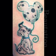 Super cute 101 Dalmatian tattoo by @beautattoo! #disney #disneyland #disneyworld…