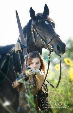Hmmm senior pictures? Too bad I'm allergic to horses.